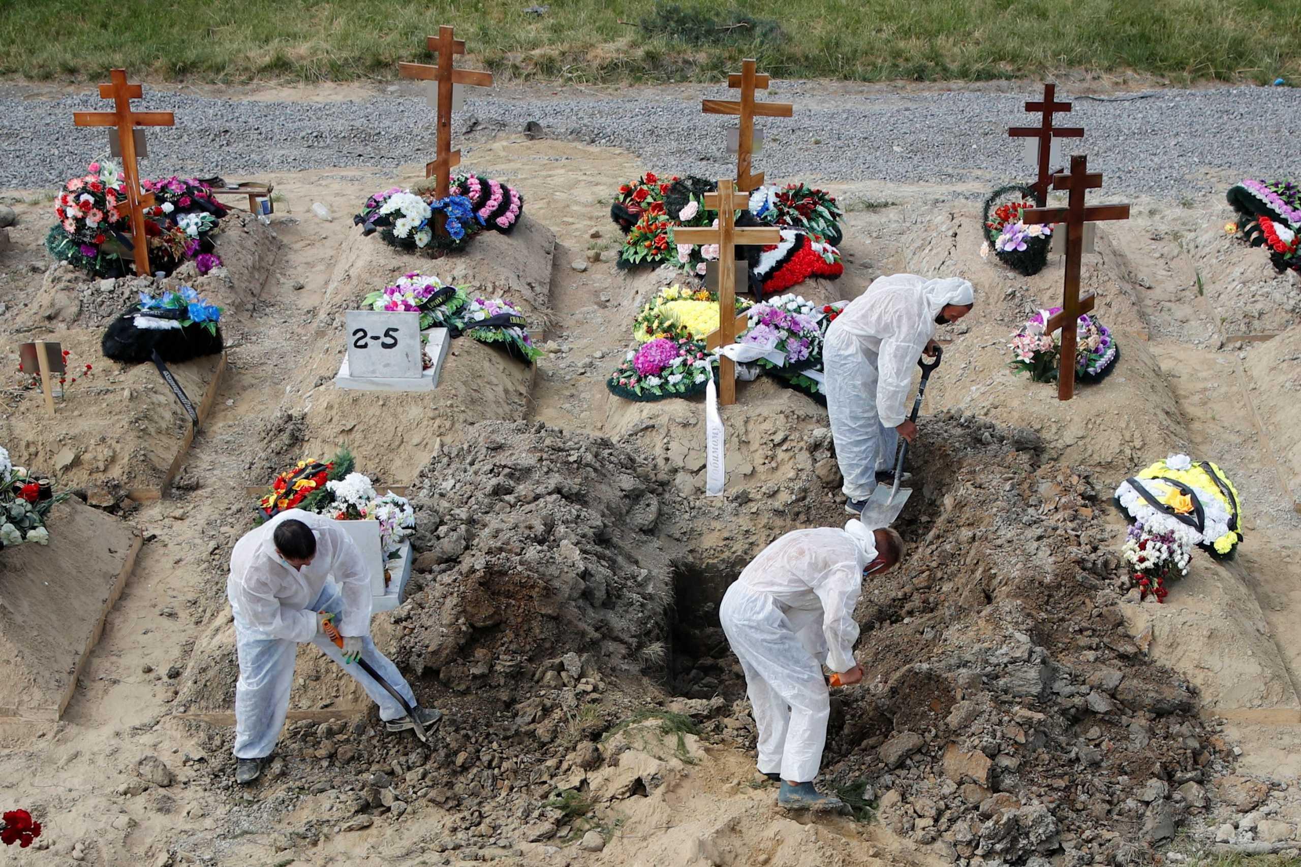 Ρωσία: Θλιβερό ρεκόρ με 786 νεκρούς από κορονοϊό το τελευταίο 24ωρο