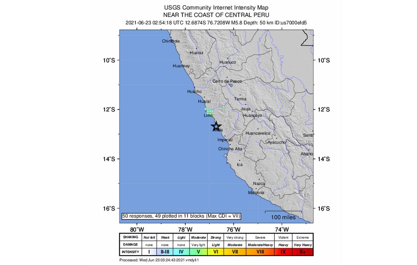 Ισχυρός σεισμός ταρακούνησε το Περού