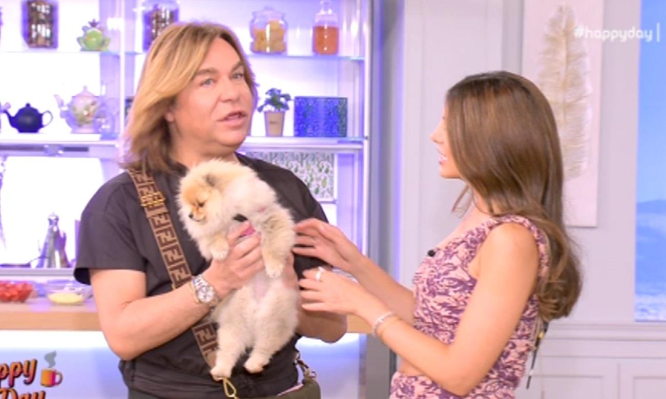 Τρύφωνας Σαμαράς: Ο σκύλος του «ξαλάφρωσε» στο πλατό του Happy Day