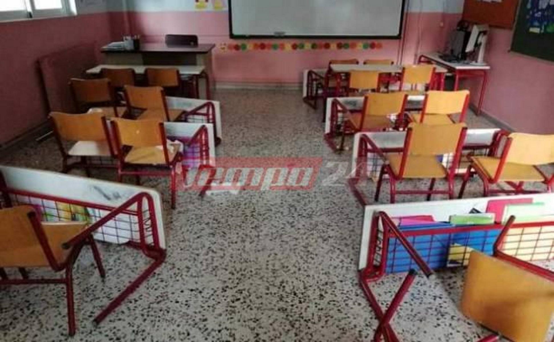 Πάτρα: Γυαλιά καρφιά σε δημοτικό σχολείο – Σοκ για δασκάλους, γονείς και μαθητές (pics)