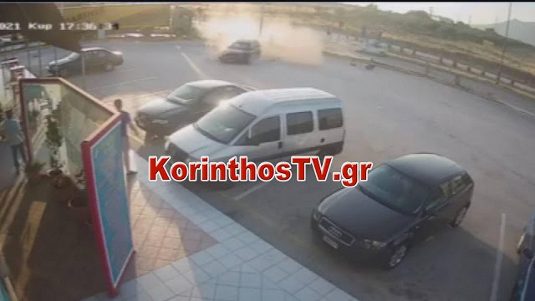 Κόρινθος: Συγκλονιστικό video από τροχαίο στον Ισθμό