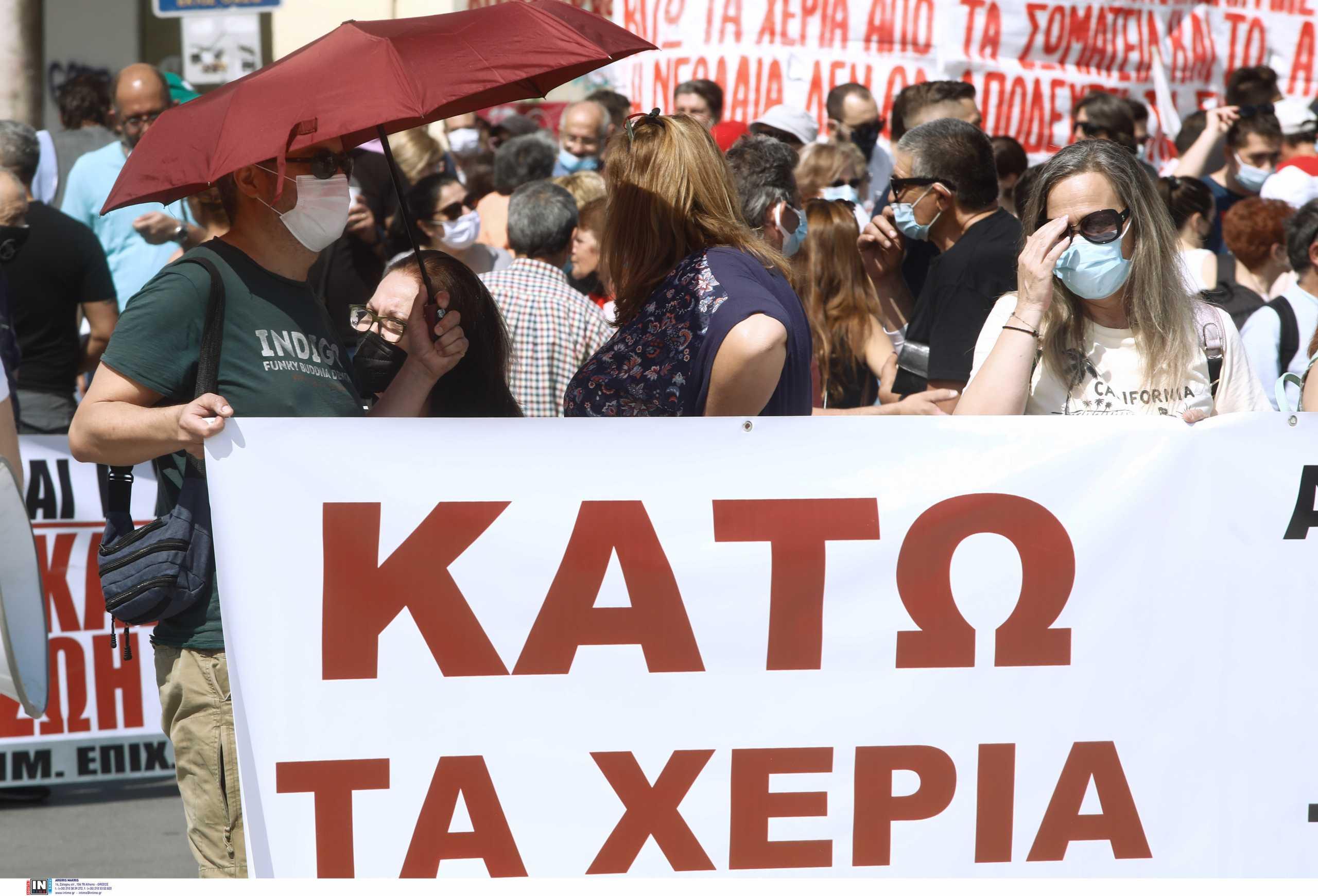 Απεργία: «Σηκώθηκαν από τον καναπέ» στα Χανιά – Μεγάλη συγκέντρωση για το εργασιακό νομοσχέδιο