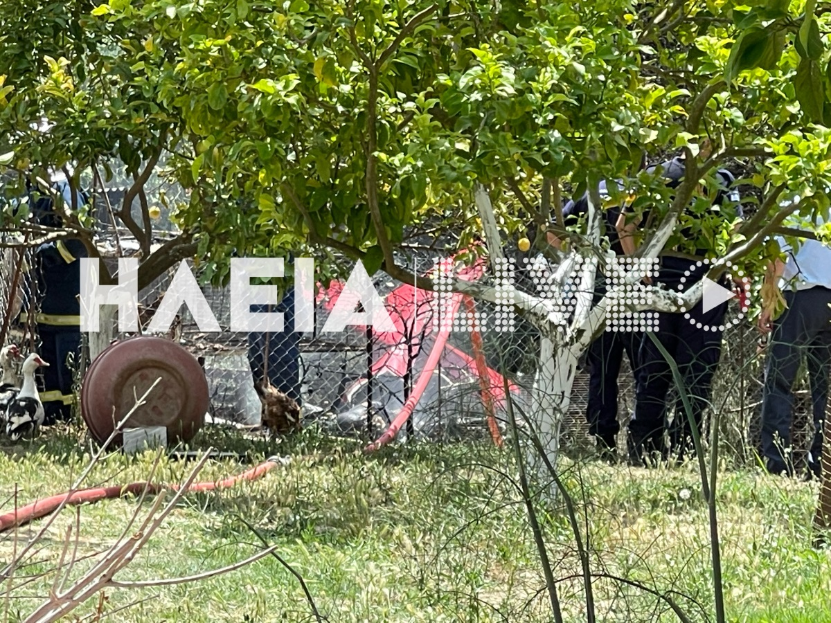 Μονοκινητήριο αεροσκάφος έπεσε στην Ηλεία