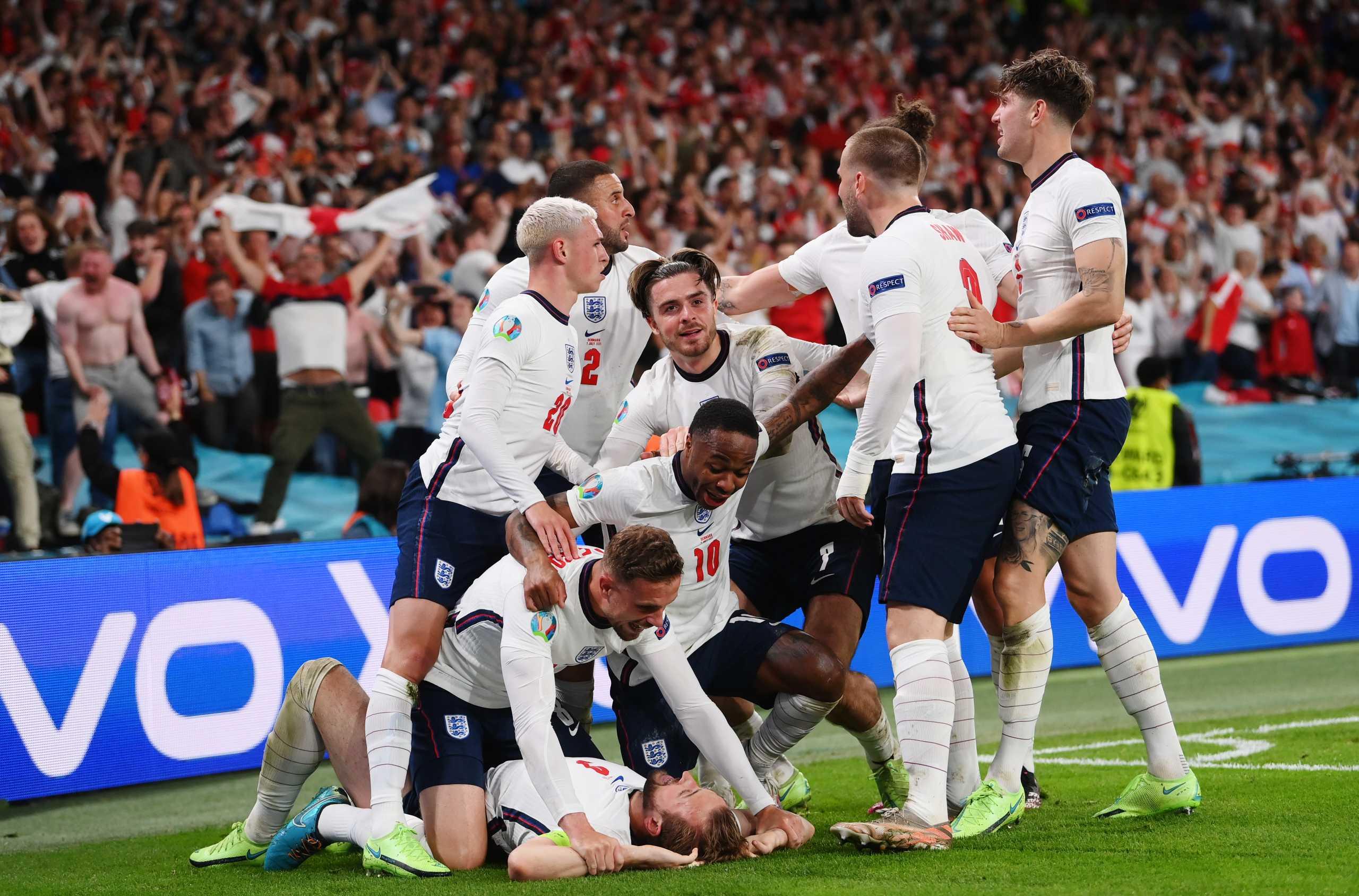 Euro 2020, Αγγλία – Δανία 2-1: Στον τελικό με ιστορική ανατροπή τα «τρία λιοντάρια»