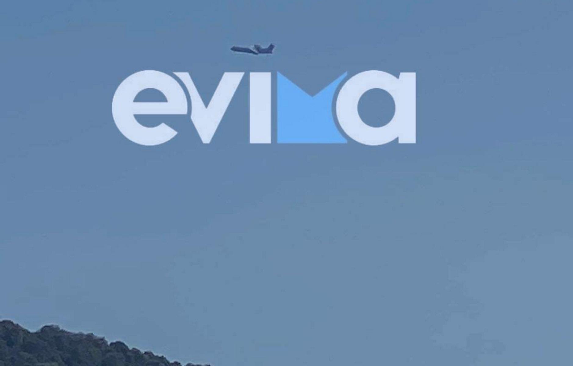 Φωτιά στην Εύβοια: Στη μάχη με τις φλόγες ο ιπτάμενος ρωσικός «γίγαντας» Beriev