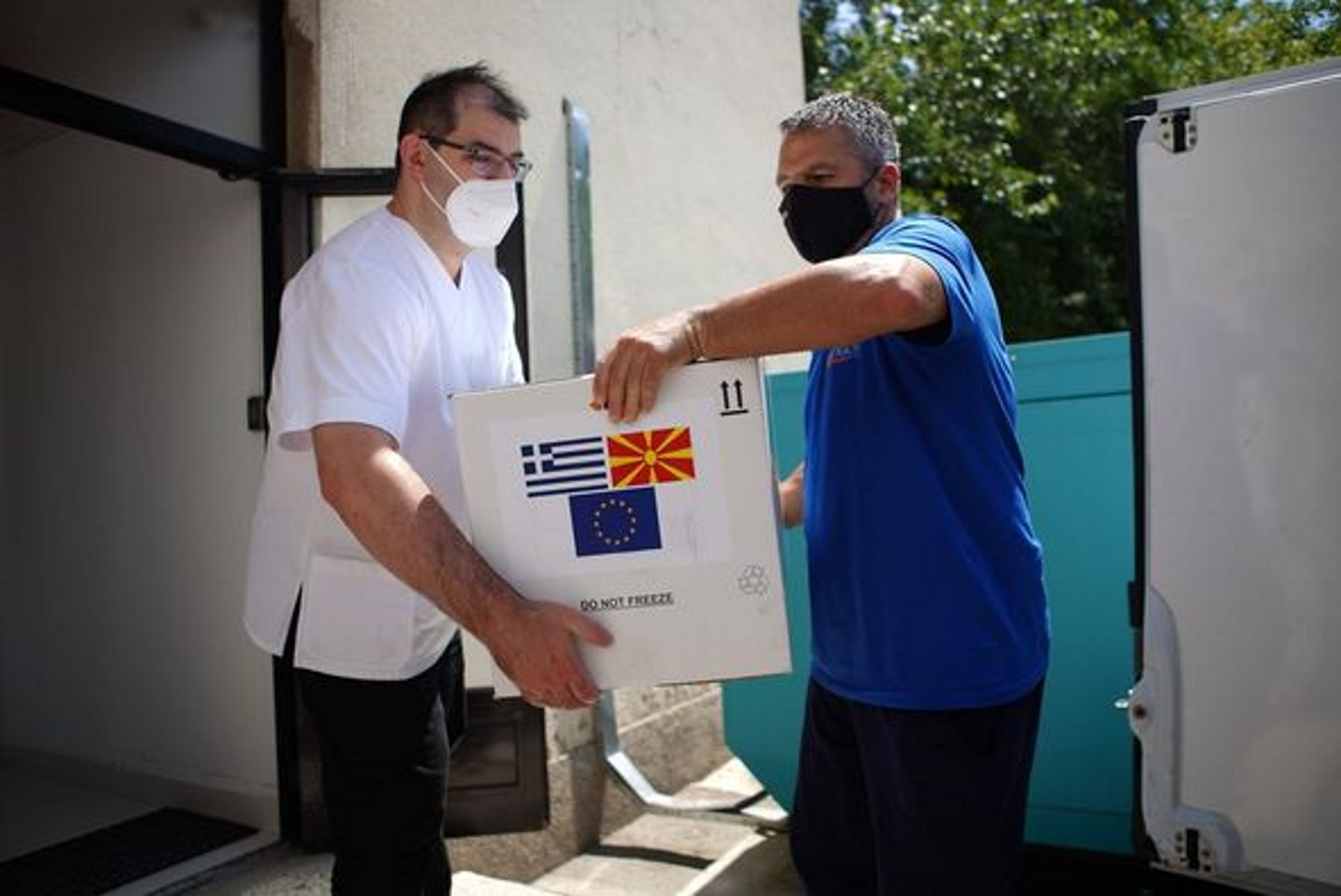 Νέα ελληνική δωρεά εμβολίων AstraZeneca στη Βόρεια Μακεδονία