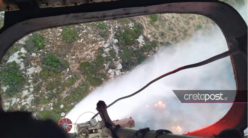 Μαίνεται η φωτιά στο Λασίθι – Σε γενική επιφυλακή οι πυροσβεστικές υπηρεσίες της Κρήτης