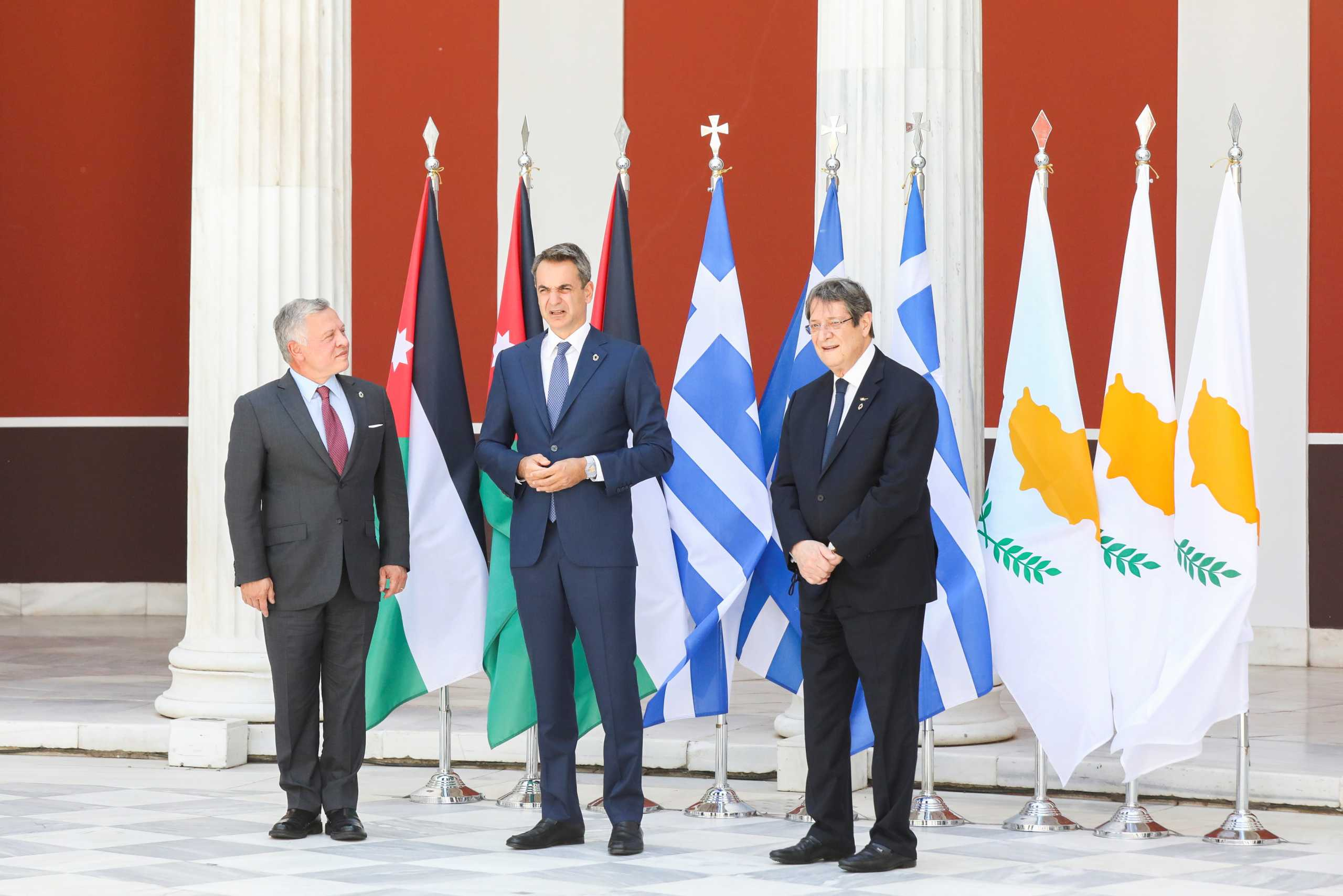 Κοινή δήλωση Ελλάδας-Κύπρου-Ιορδανίας: Δίκαιη, συνολική και βιώσιμη επίλυση στο Κυπριακό