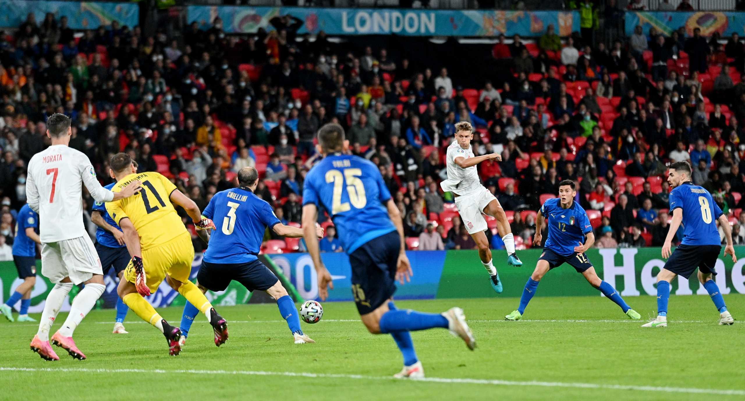 """Euro 2020, Ιταλία – Ισπανία 1-1 ΤΕΛΙΚΟ: Οι """"Ατζούρι"""" πήραν το """"εισιτήριο"""" στα πέναλτι (4-2)"""