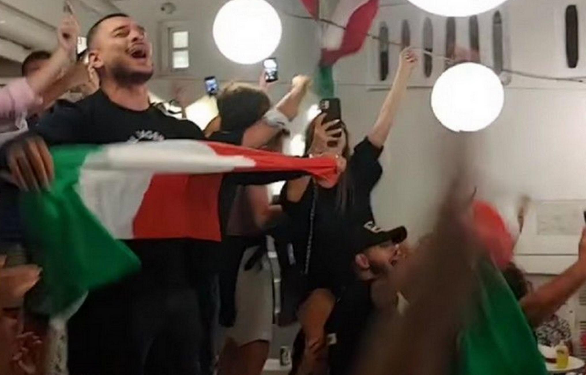 Μύκονος: Πανηγυρισμοί Ιταλών δίχως  προηγούμενο – Δείτε τι έγινε μόλις τελείωσε ο τελικός του Euro