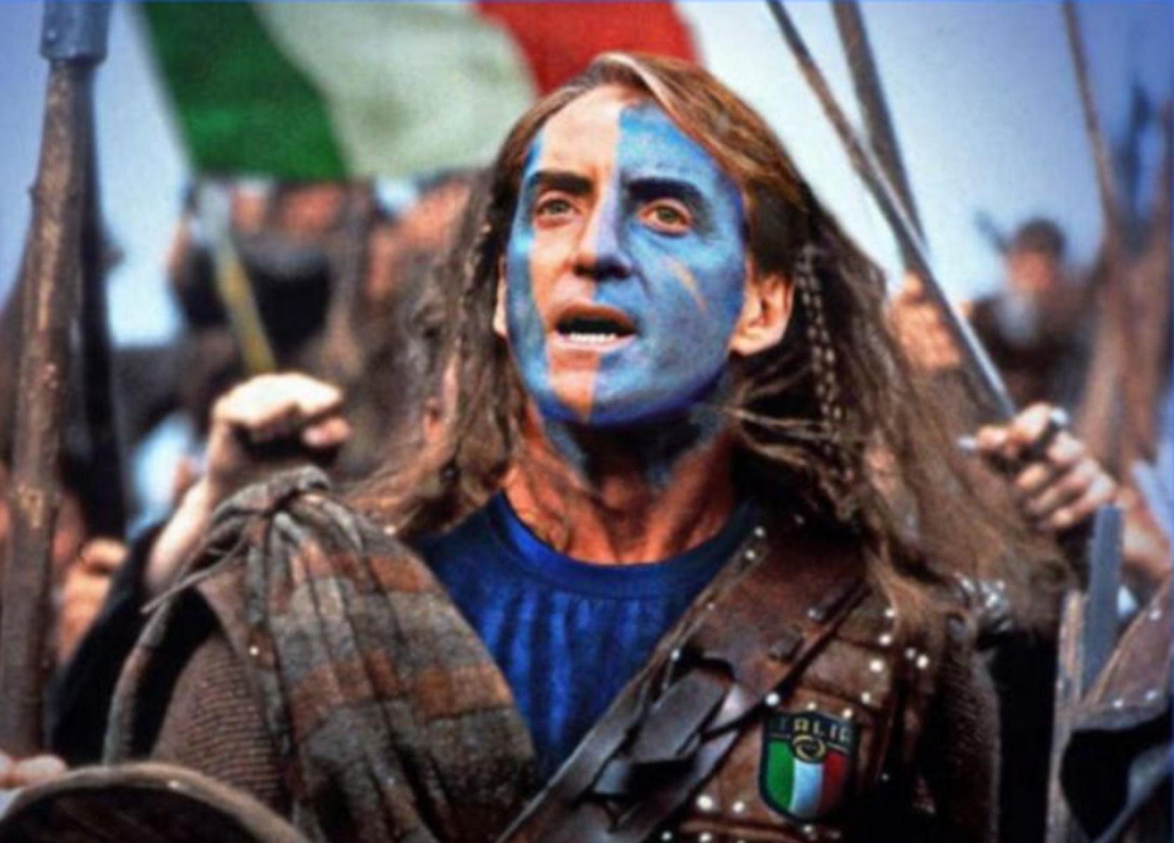 Euro 2020: Οι Σκωτσέζοι «μεταμόρφωσαν» τον Μαντσίνι σε «Braveheart» και στηρίζουν την Ιταλία στον τελικό