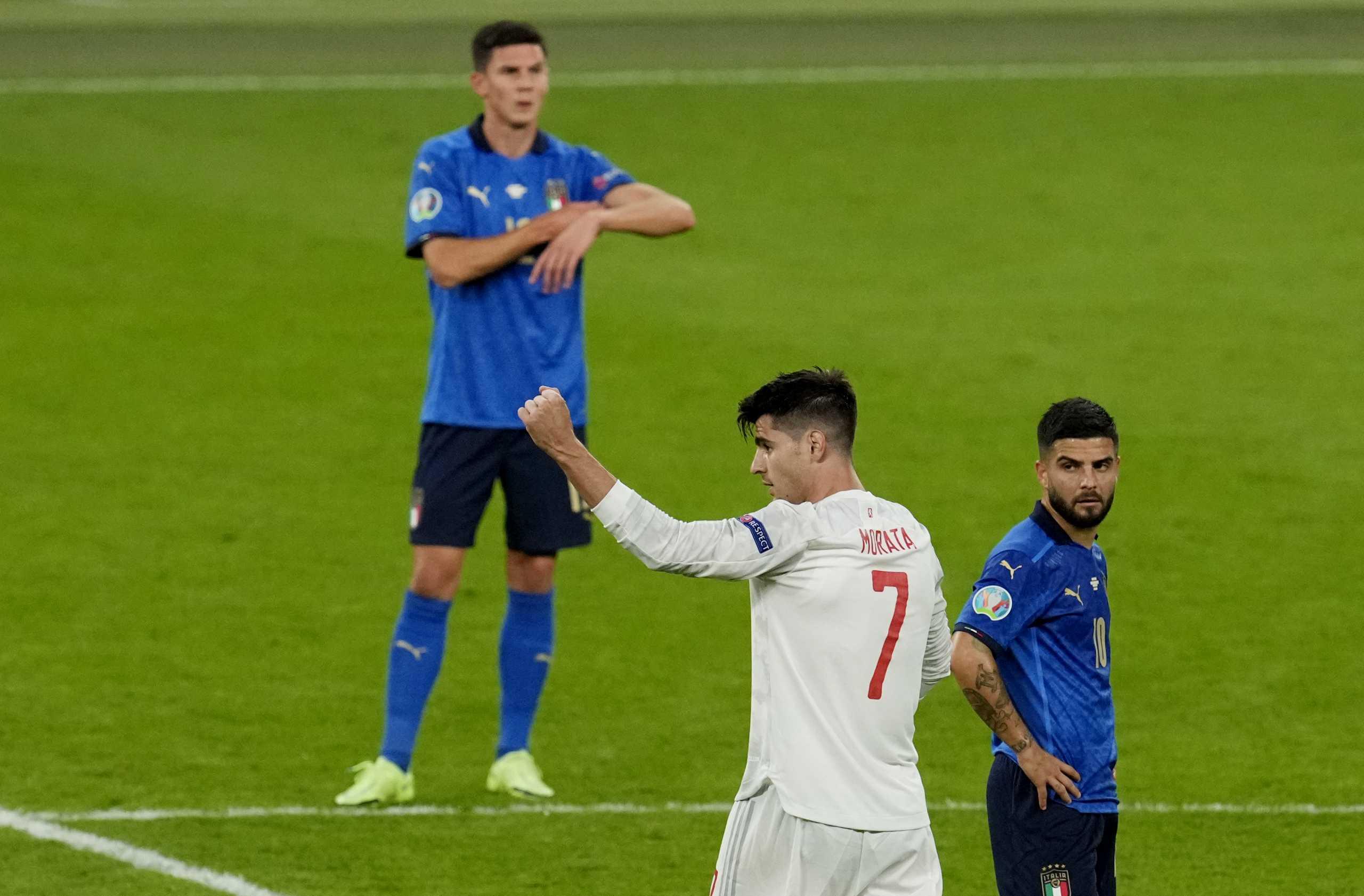 Euro 2020, Ιταλία – Ισπανία: Γκολ και φιλάκια από τον Μοράτα