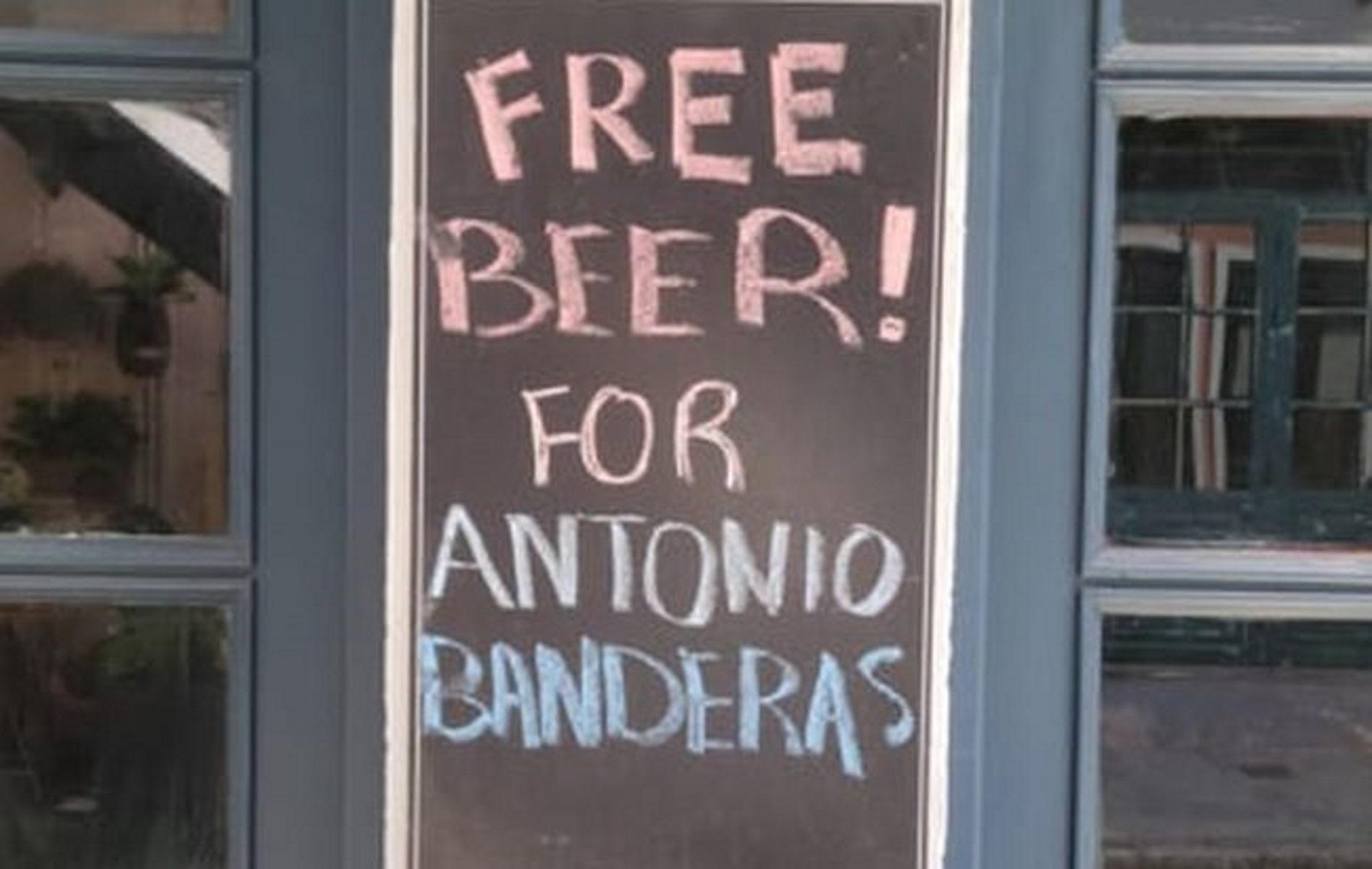 Αντόνιο Μπαντέρας – The Enforcer: Μαγαζί προσφέρει δωρεάν μπύρα στον Ισπανό σούπερ σταρ