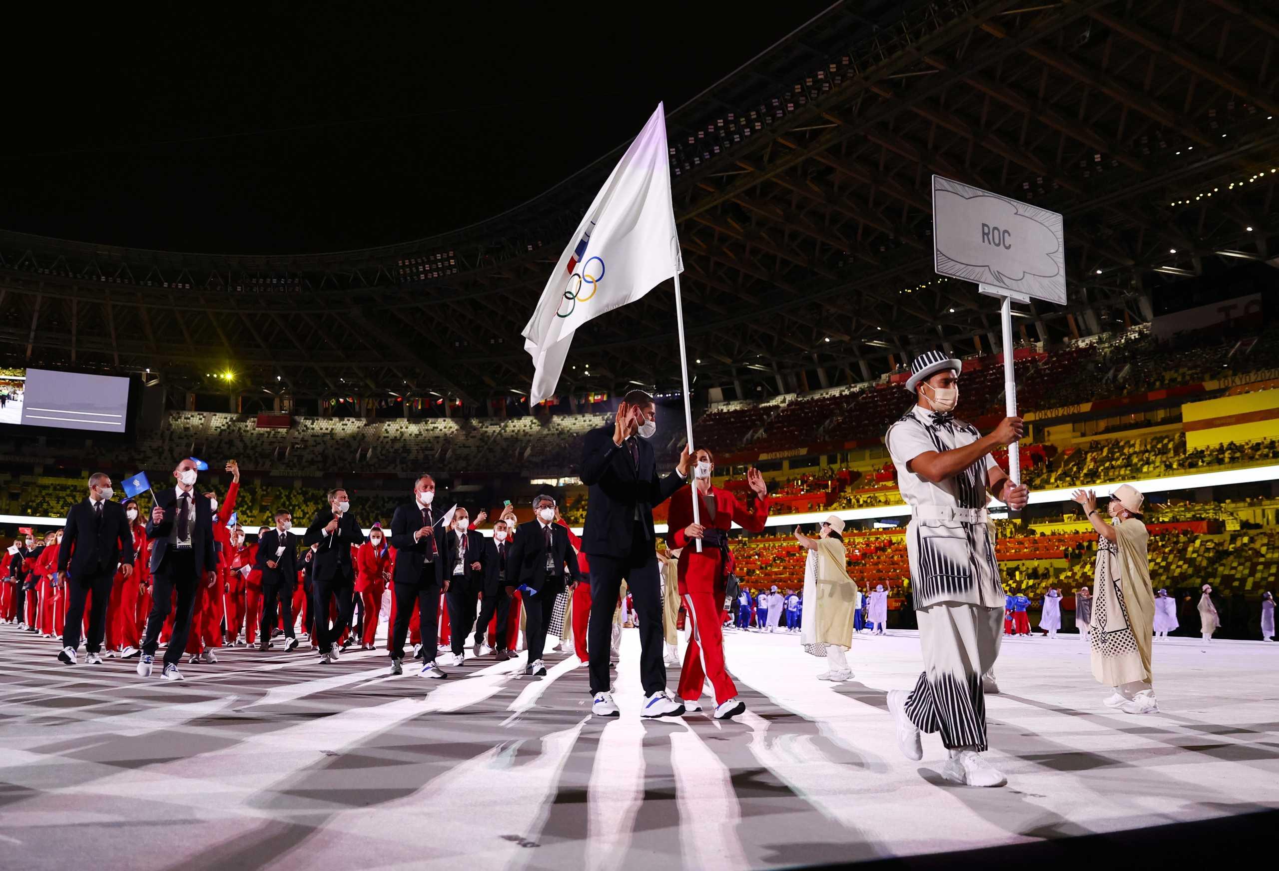 Ολυμπιακοί Αγώνες: Η είσοδος της Ρωσίας χωρίς τη σημαία της στην τελετή έναρξης