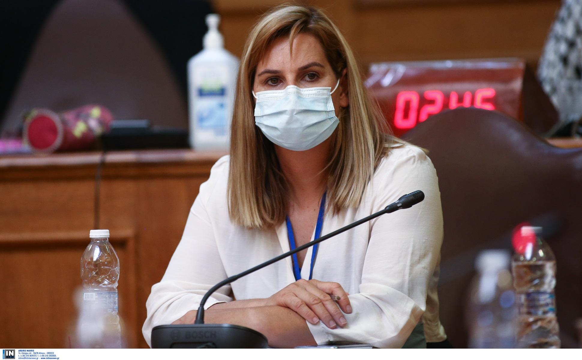 Σοφία Μπεκατώρου στη Βουλή για τα περιστατικά σεξουαλικής κακοποίησης στον αθλητισμό
