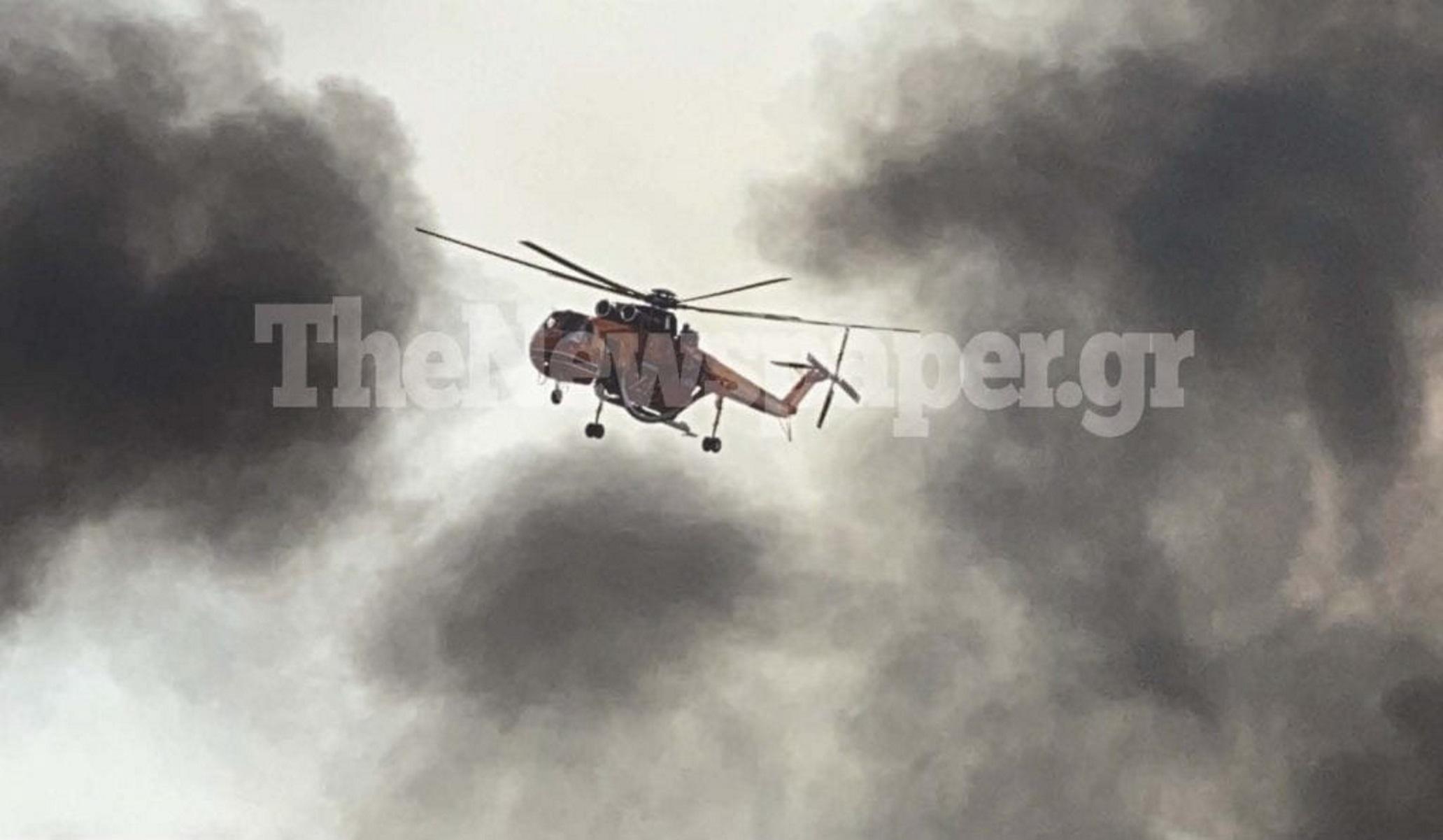 Φωτιά στον Βόλο: Βίντεο από τη δύσκολη μάχη με τις φλόγες