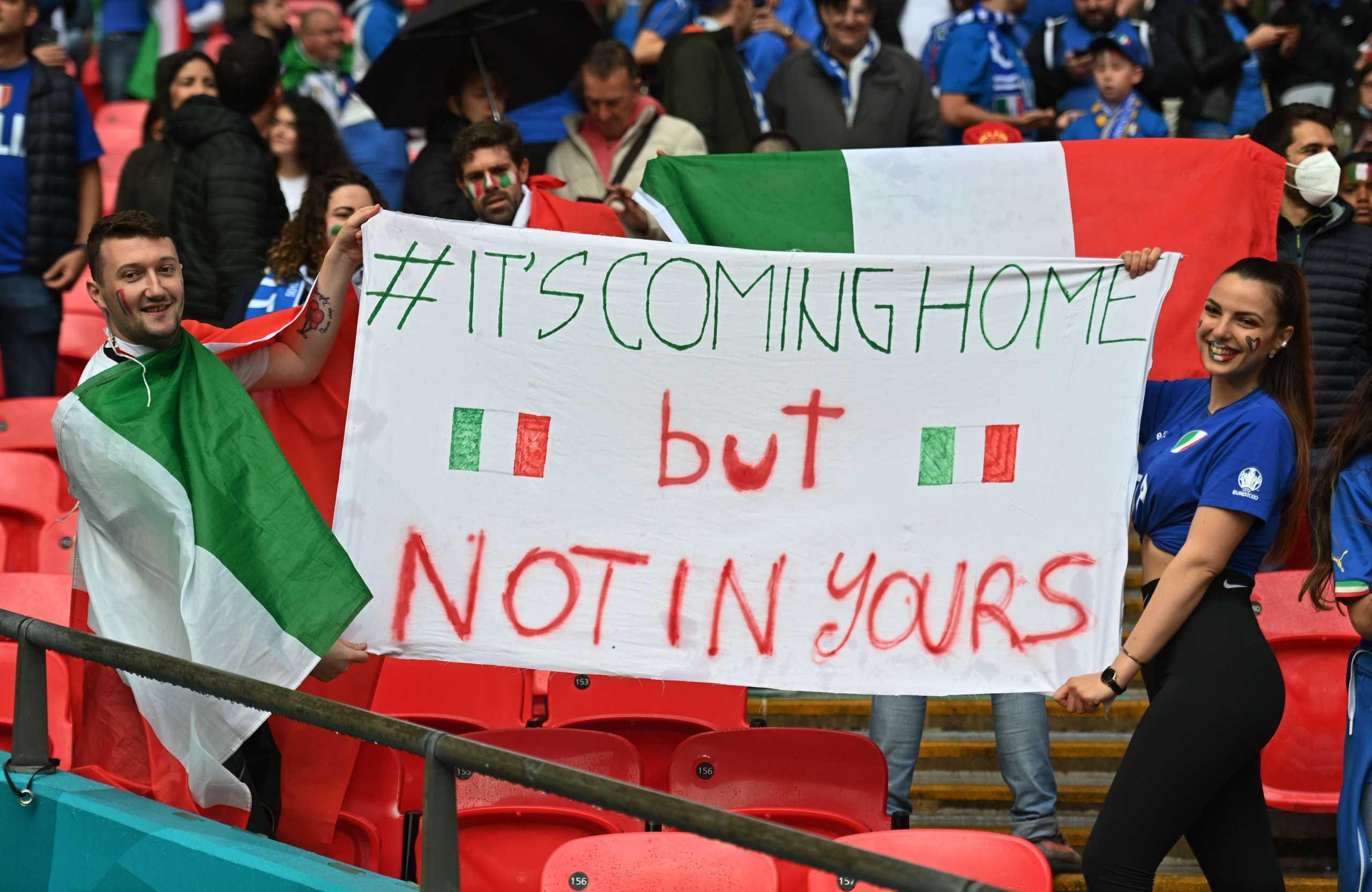 Euro 2020, Ιταλία – Ισπανία: Απίστευτες εικόνες από τις εξέδρες του Wembley