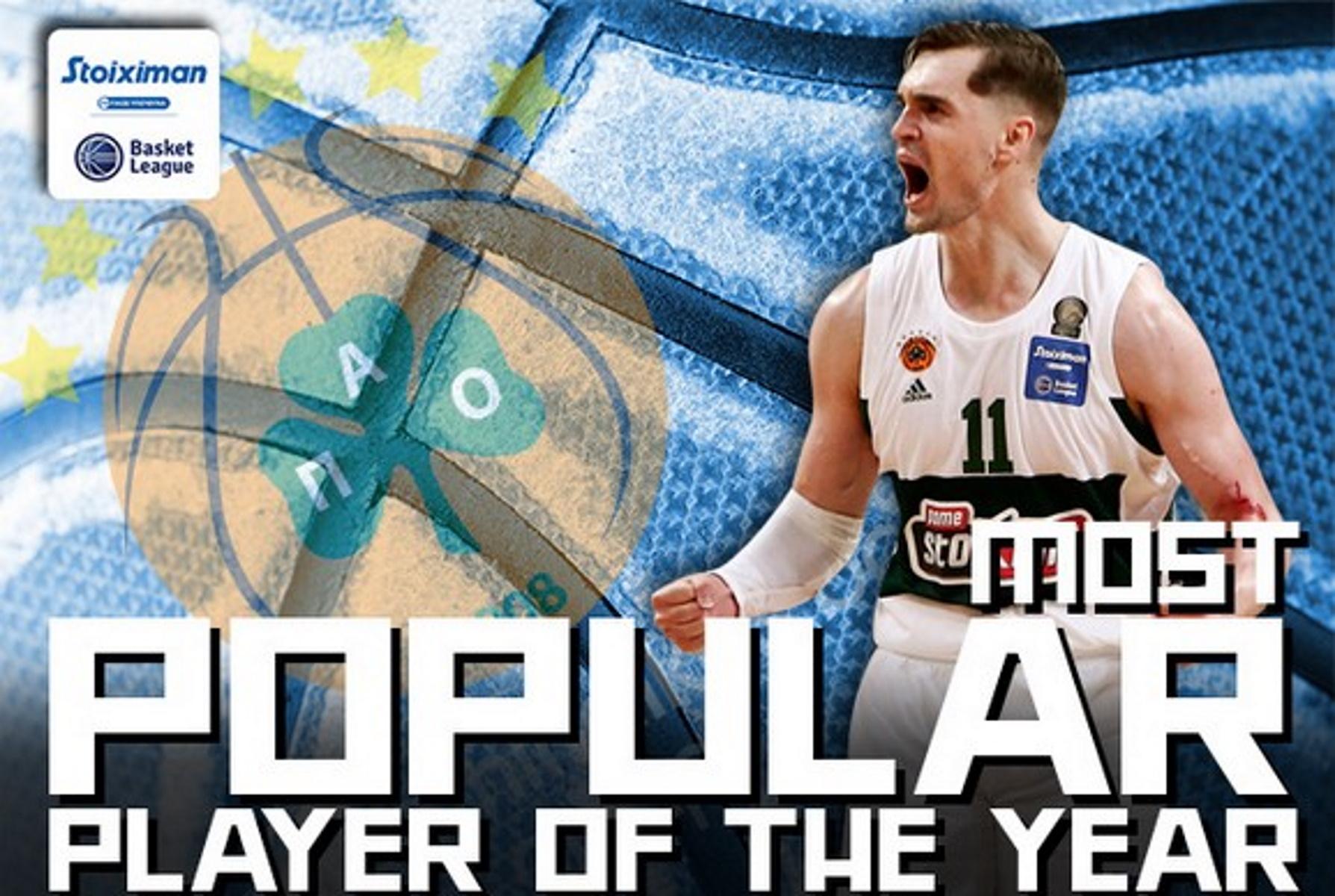Ο Μάριο Χεζόνια αναδείχθηκε δημοφιλέστερος παίκτης της Basket League