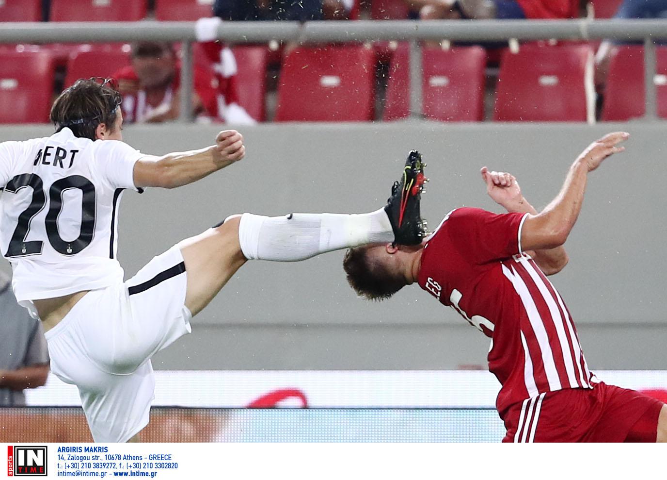 Ολυμπιακός – Νέφτσι Μπακού: Τα δύο τρομακτικά χτυπήματα που έφεραν τις αποβολές