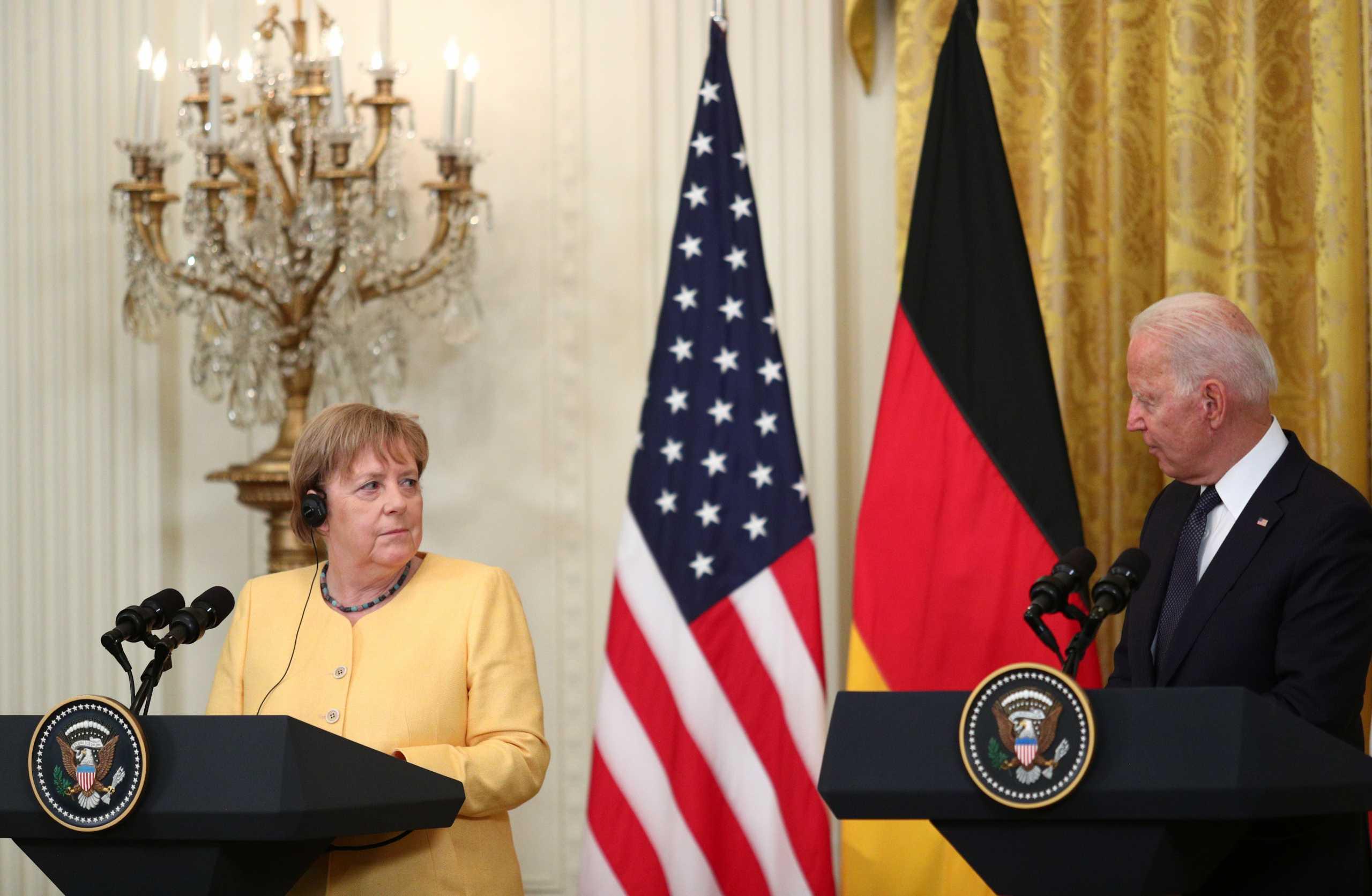 Μπάιντεν και Μέρκελ «χτίζουν» κοινό μέτωπο κατά της Ρωσίας – Διαφωνούν για Nord Stream 2 και Κίνα