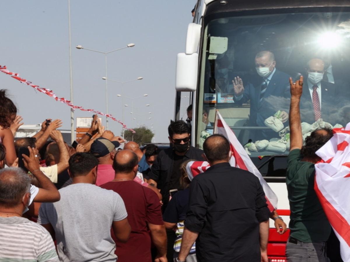Νέα πρόκληση Ερντογάν από την Κύπρο: Δε μιλάμε για Βορρά και Νότο αλλά για Τουρκοκυπριακό κράτος