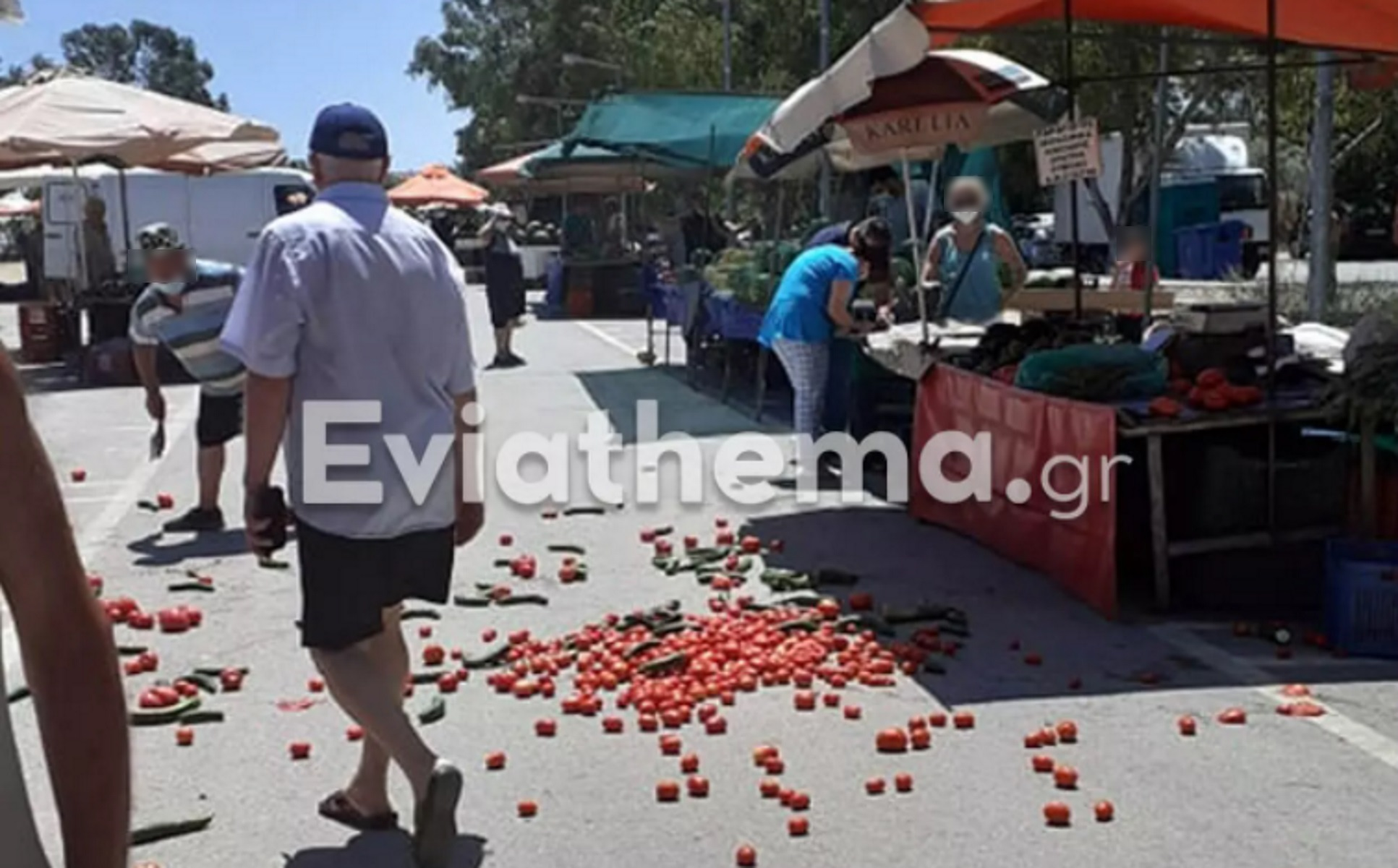 Ερέτρια: Βίντεο με χαμό σε λαϊκή αγορά μετά από έφοδο του ΣΔΟΕ