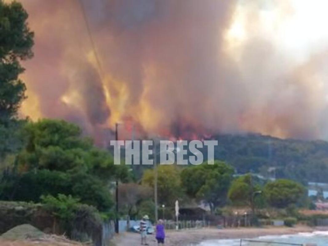 Φωτιά στην Αχαΐα: Σε ετοιμότητα δύο νοσοκομεία