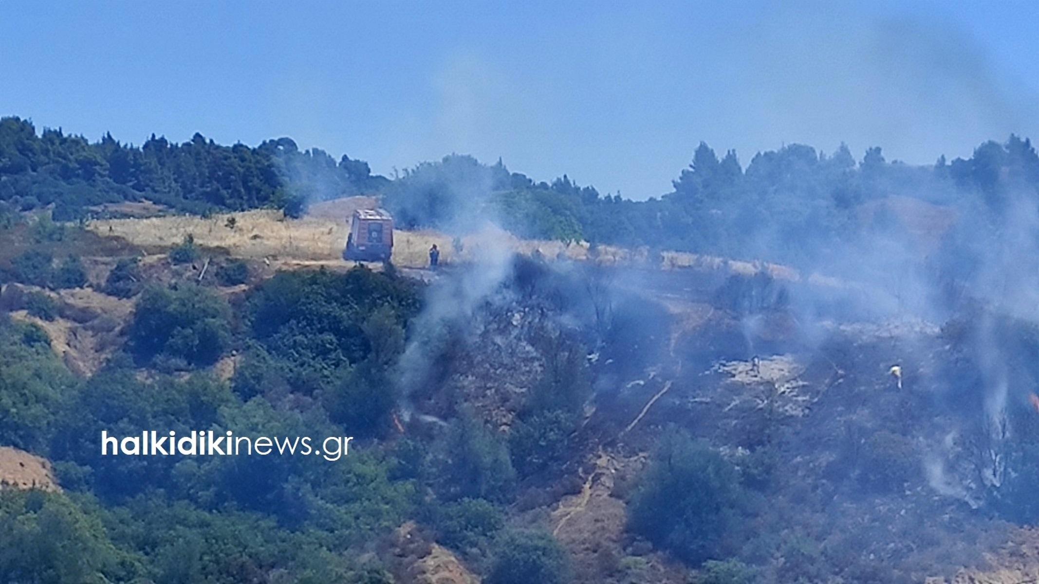 Φωτιά στη Σιθωνία Χαλκιδικής – Καίγεται δάσος