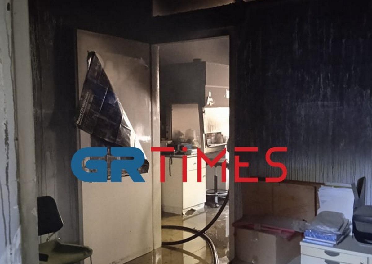 Φωτιά στο ΑΠΘ: Σημαντικές ζημιές στα εργαστήρια της Ιατρικής