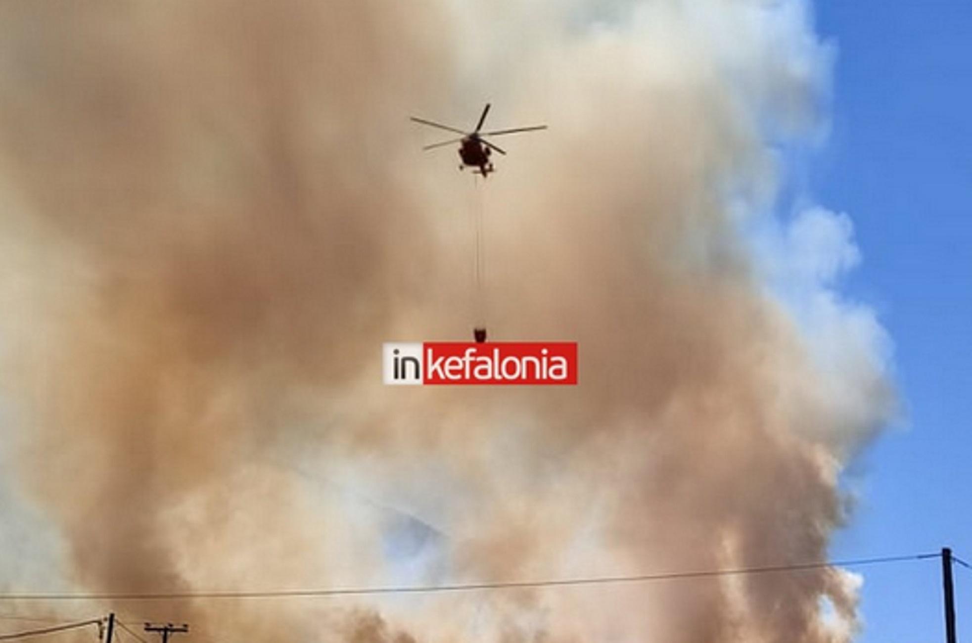 Κεφαλονιά: Ανεξέλεγκτη η φωτιά που ξεκίνησε από ένα βοσκό – «Έχουν συμβεί απίστευτα πράγματα»