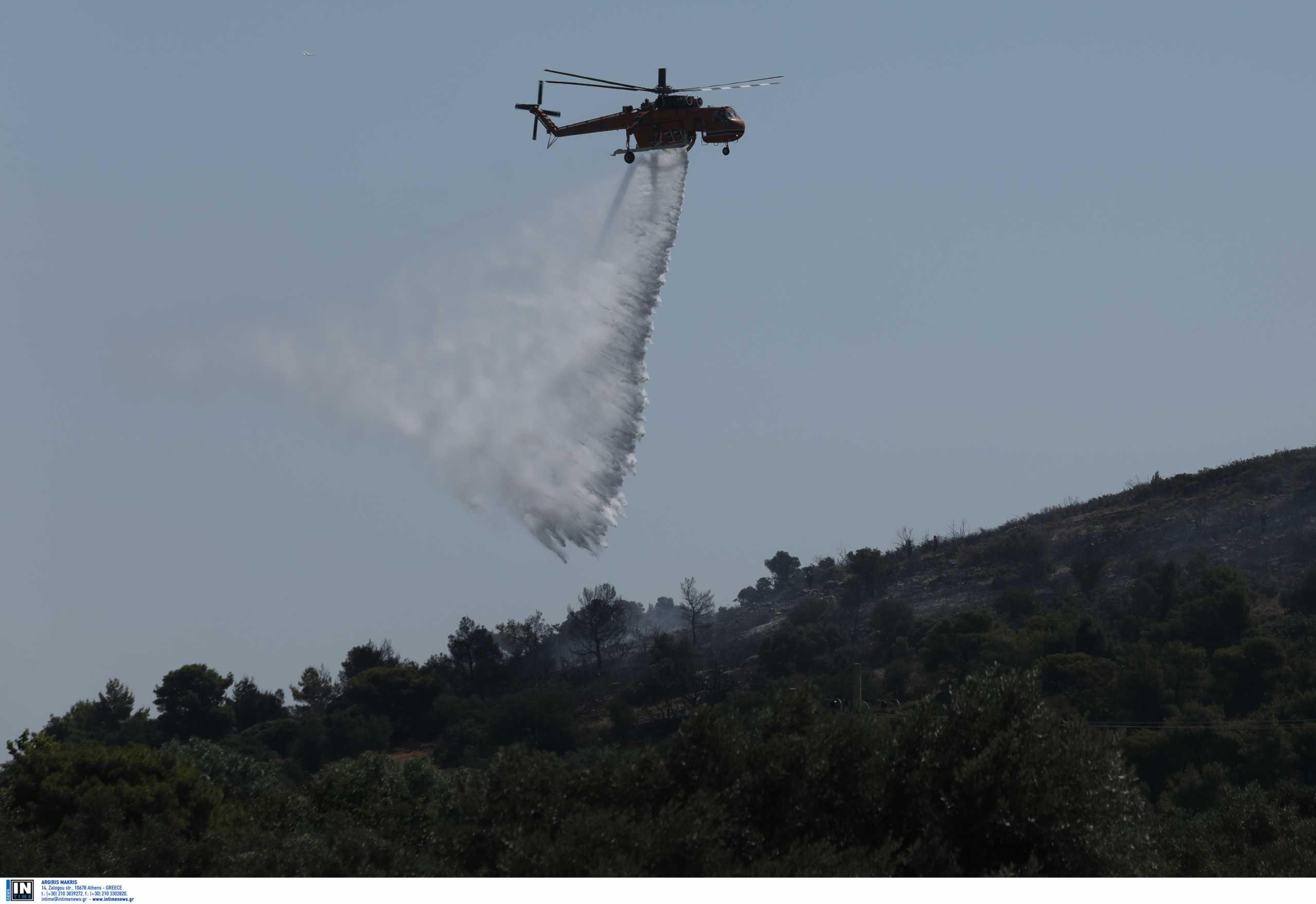 Νέα φωτιά στην Κρήτη: Ελικόπτερο επιχειρεί βόρεια της Βόνης