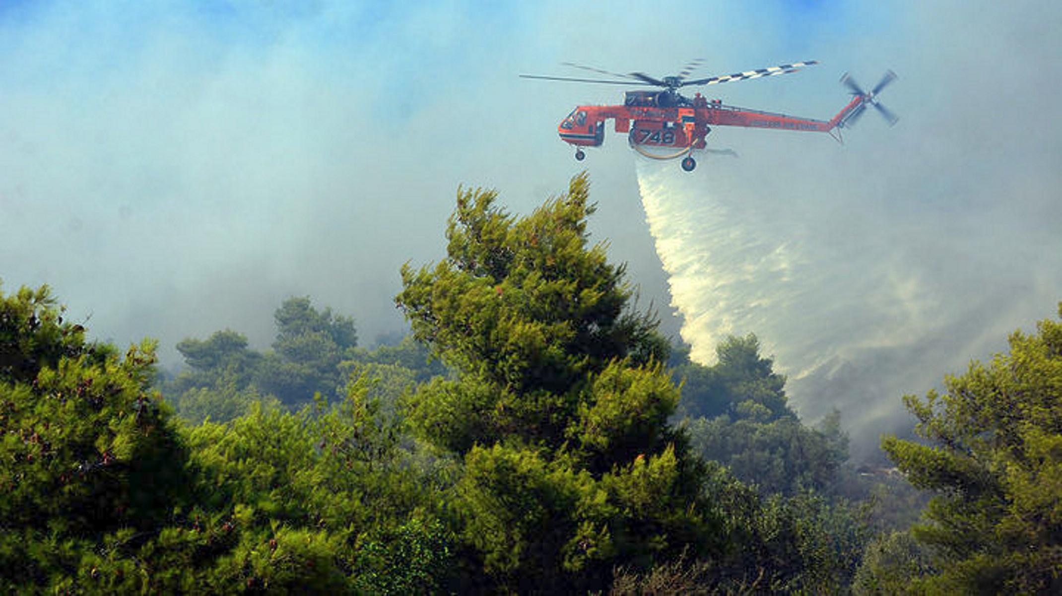 Ζάκυνθος: Έσβησε η φωτιά στην περιοχή Σκοπός