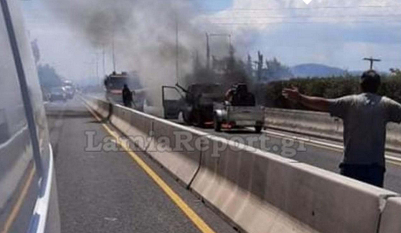 Μαγνησία: Μποτιλιάρισμα χιλιομέτρων στις Μικροθήβες μετά από φωτιά που άρπαξε αυτοκίνητο