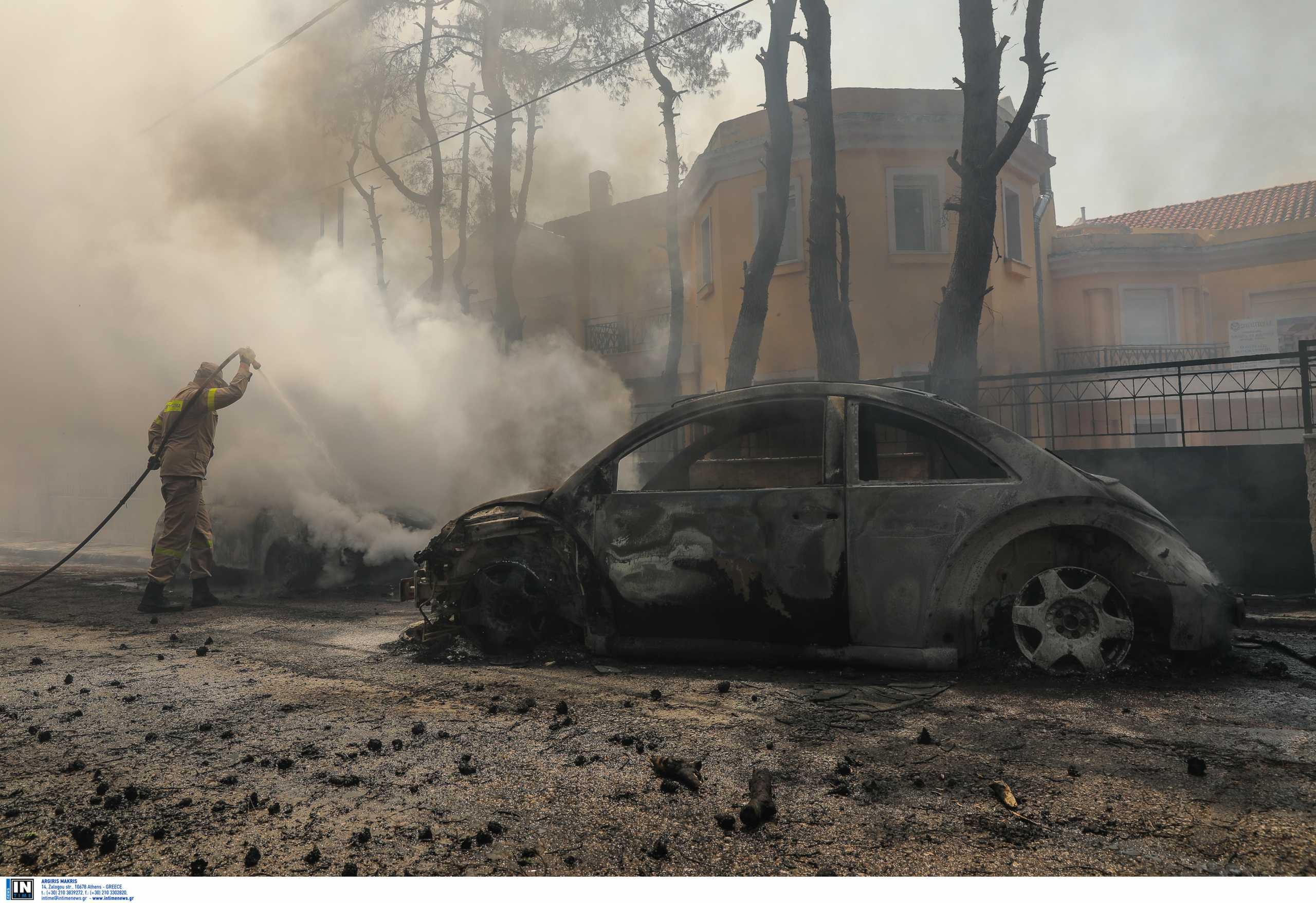 Φωτιά στη Σταμάτα: Τεράστιες οι καταστροφές που άφησε πίσω της