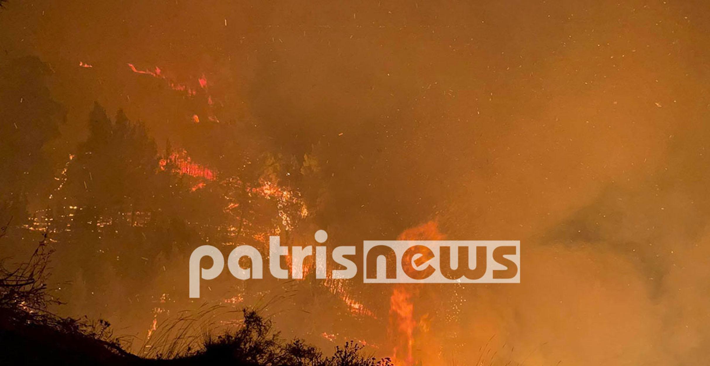 Ηλεία: Μεγάλη φωτιά στην Κορυφή