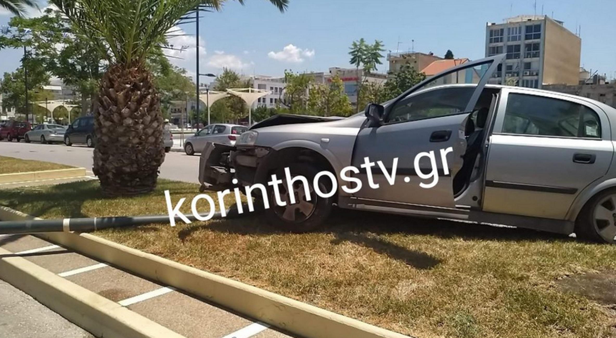 Κόρινθος: Προσπάθησε να αποφύγει αυτοκίνητο και κατέληξε πάνω στη διαχωριστική νησίδα