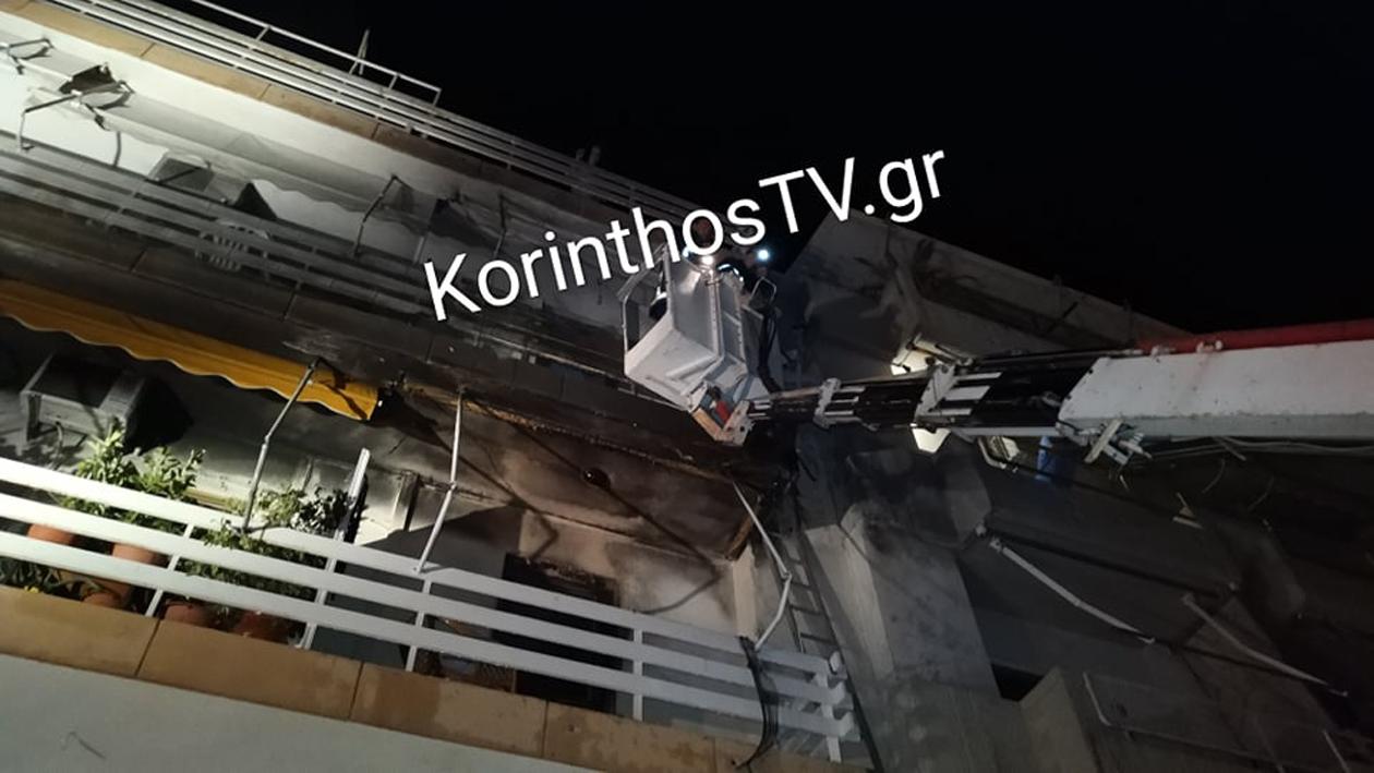 Κόρινθος: Δραματικές ώρες από φωτιά σε πολυκατοικία στο Λουτράκι – Απεγκλωβίστηκαν 12 άνθρωποι