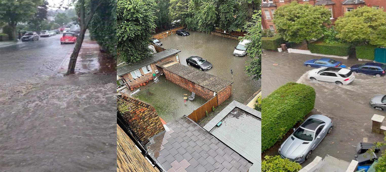 Πλημμύρες χωρίς προηγούμενο στο Λονδίνο – Δρόμοι ποτάμια
