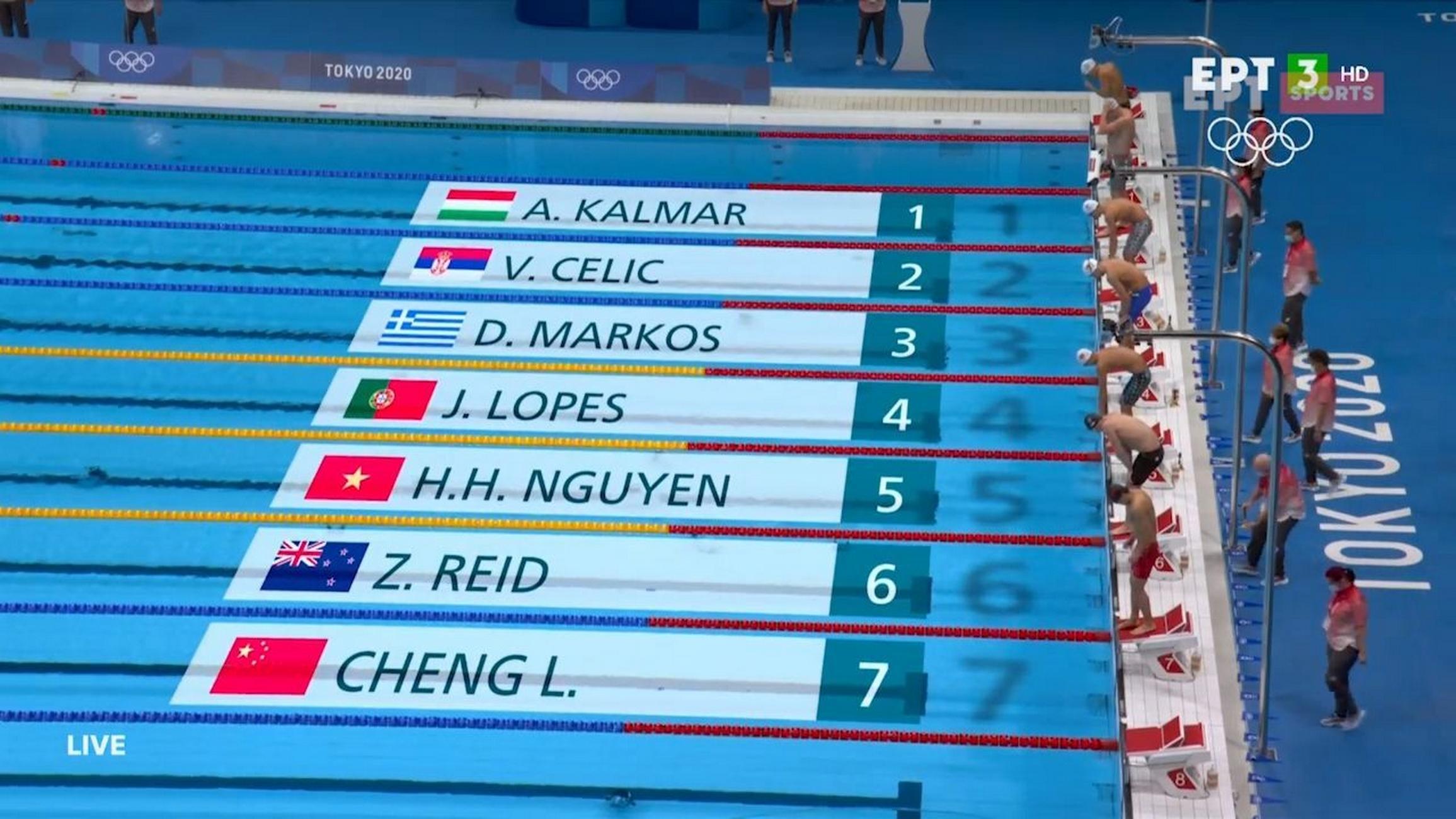 Ολυμπιακοί Αγώνες: Αποκλείστηκε ο Μάρκος στα 800 μέτρα ελεύθερο