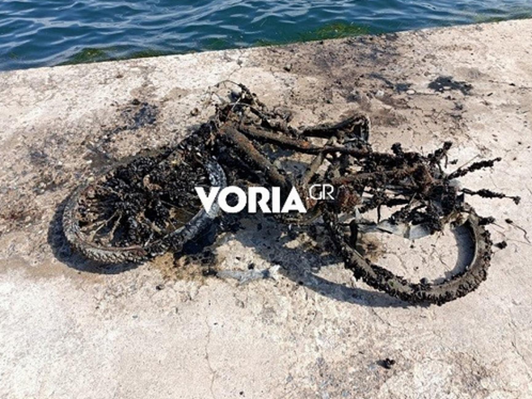 Θεσσαλονίκη: Απίστευτο αλλά «ψάρεψαν» και τρία μηχανάκια μέσα στη θάλασσα του Θερμαϊκού