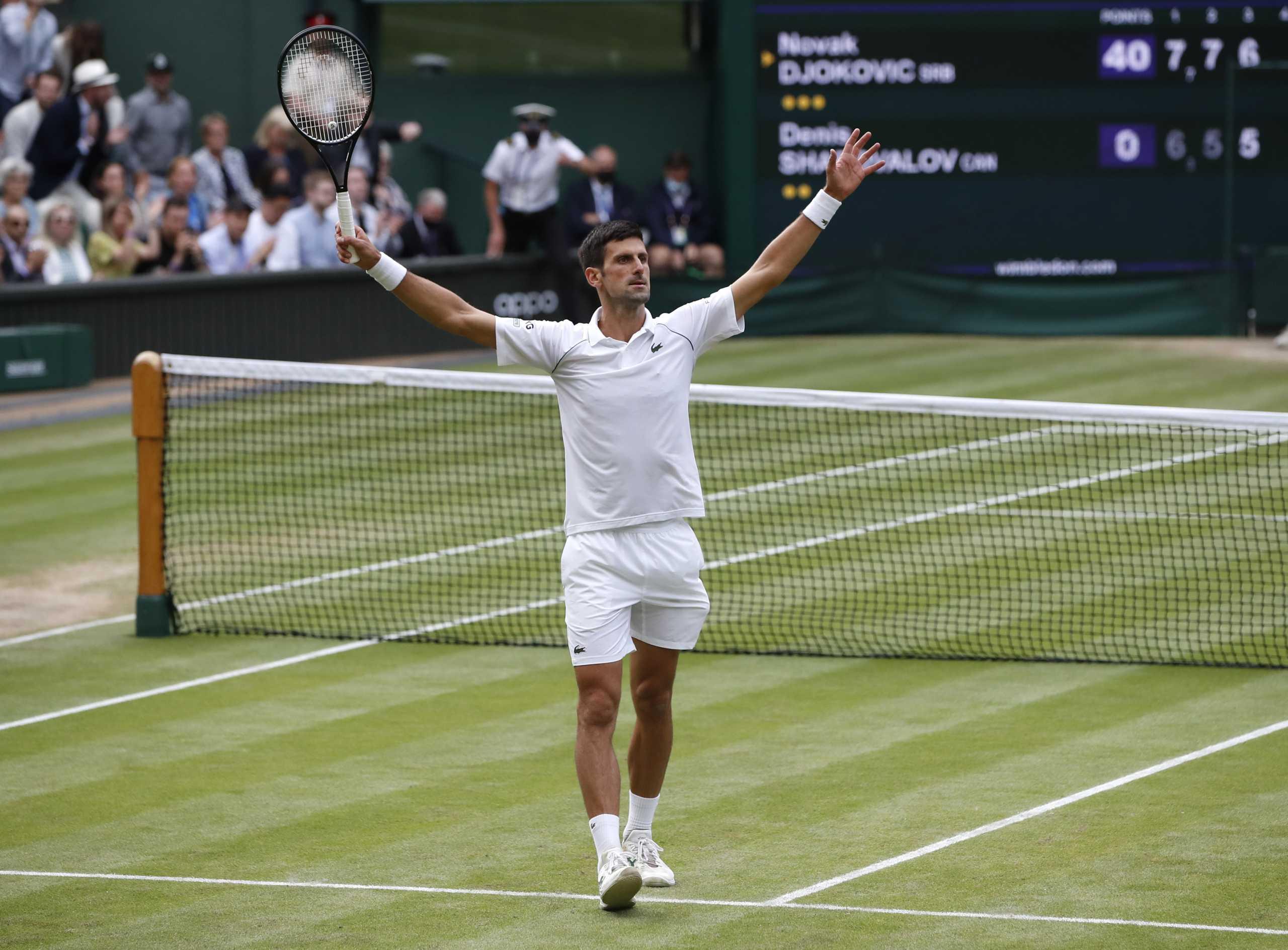 Ο Νόβακ Τζόκοβιτς γράφει ιστορία στο Wimbledon – Στον τελικό για το 20ο Grand Slam