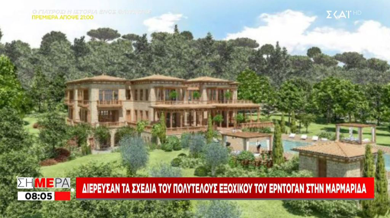Το νέο παλάτι του Ερντογάν στη Μαρμαρίδα με ιδιωτική παραλία και 300 δωμάτια