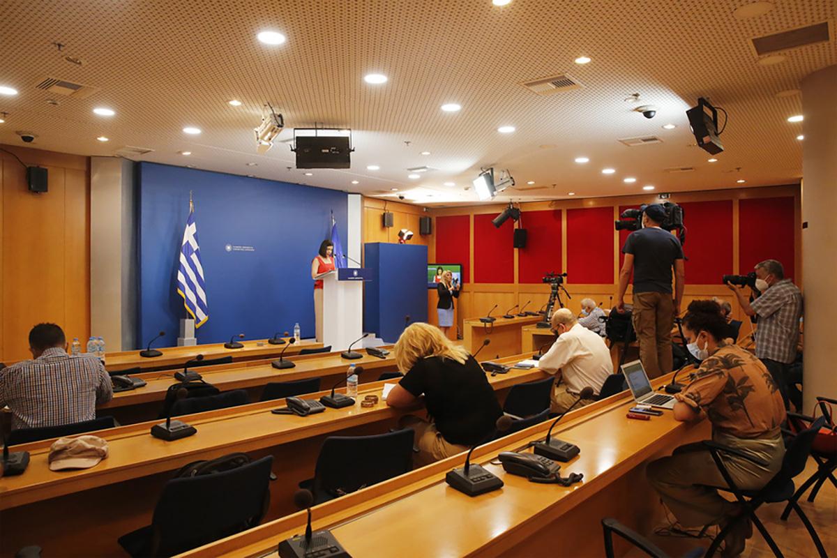 Η ενημέρωση των πολιτικών συντακτών από την κυβερνητική εκπρόσωπο, Αριστοτελία Πελώνη