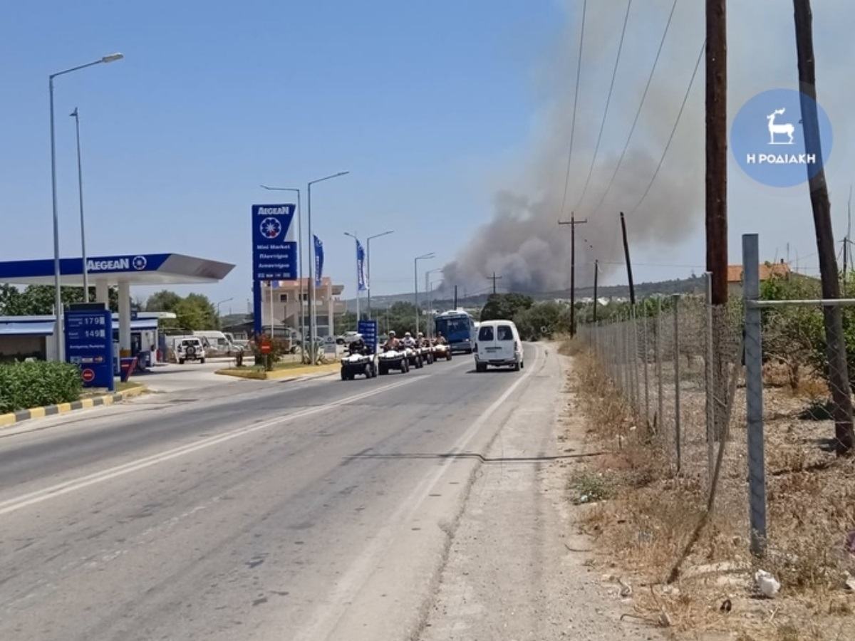 Φωτιά τώρα στη Ρόδο κοντά σε παλιά χωματερή