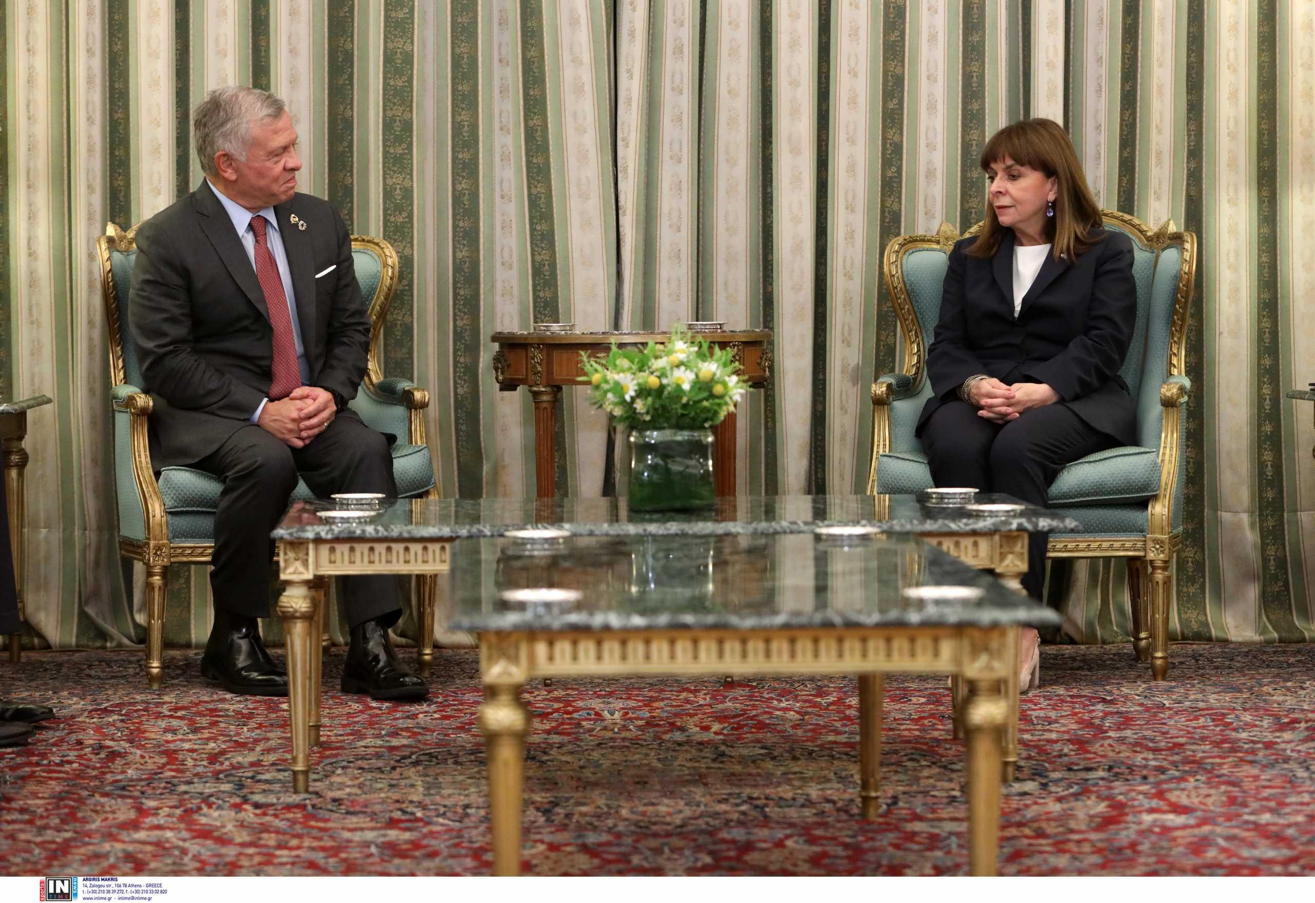 Σακελλαροπούλου στον Βασιλιά της Ιορδανίας: Επιθυμούμε την ενδυνάμωση των σχέσεών μας