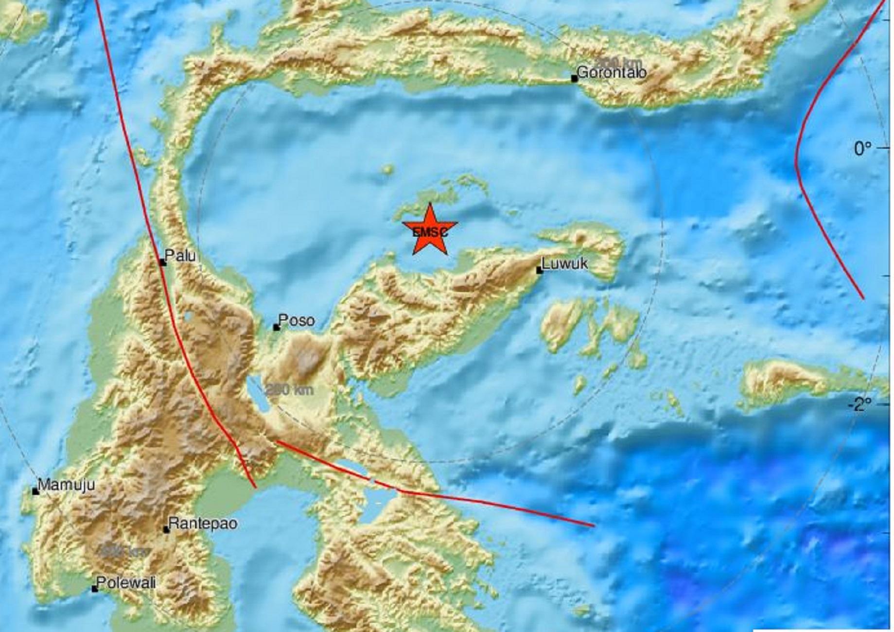 Ινδονησία: Σεισμός 6,3 Ρίχτερ στη νήσο Σουλαουέζι