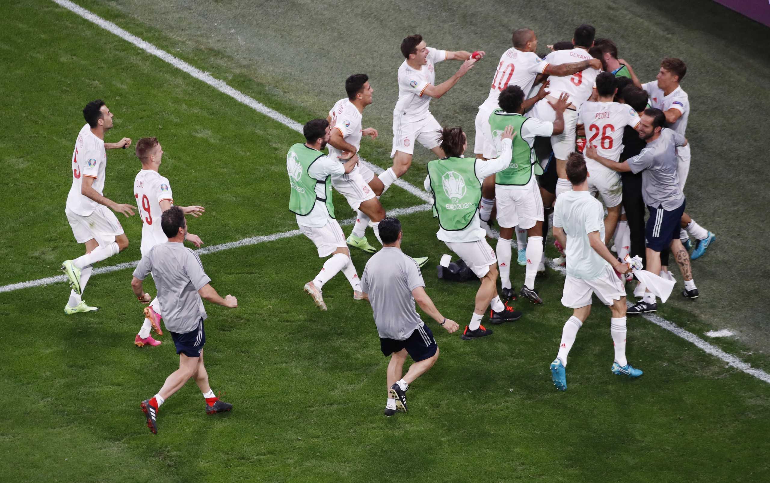 Euro 2020, Ελβετία – Ισπανία: Τα πέναλτι και οι πανηγυρισμοί των Ιβήρων