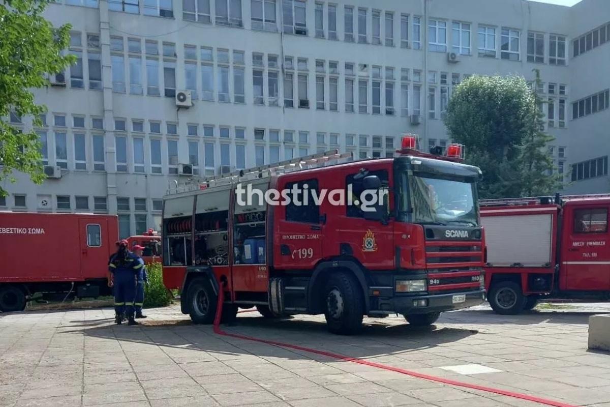 Θεσσαλονίκη: Φωτιά τώρα στην Ιατρική Σχολή του ΑΠΘ