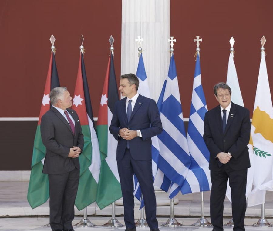 Σύνοδος κορυφής Ελλάδας – Κύπρου – Ιορδανίας στο Ζάππειο