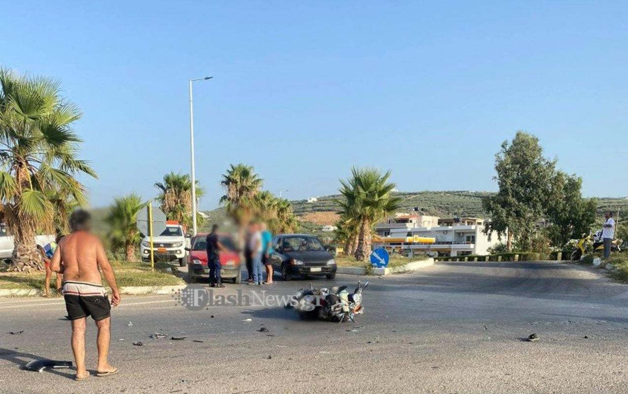 Χανιά: Τροχαίο με δύο σοβαρά τραυματίες στο Καστέλι – Μηχανές συγκρούστηκαν μετωπικά